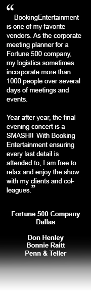 corporate entertainment testimonial